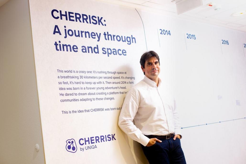 Krisztián Kurtisz, CEO of CHERRISK | Photo: Forbes.hu, 2020